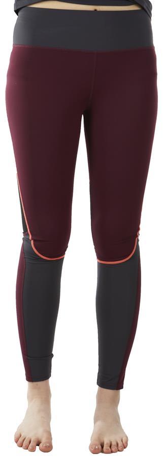 Tribe Sports Running Tight Women's Leggings, UK 8 Burgundy