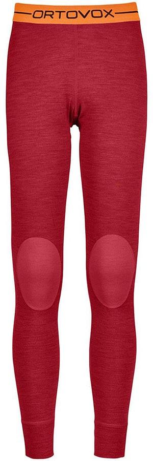 Ortovox Womens Rock'N'Wool Women's Long Thermal Pants, Xs Hot Coral Blend