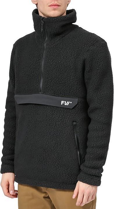 FW Root Pillow Pullover Midlayer Fleece Jacket, S Slate Black