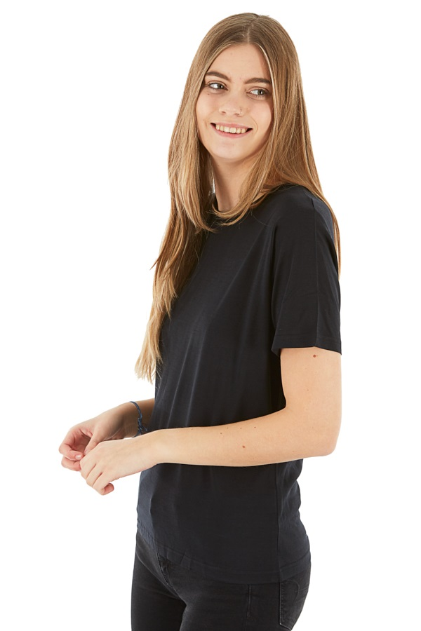 Silkbody Silkspun Women's S/S Baselayer Top, XS Black