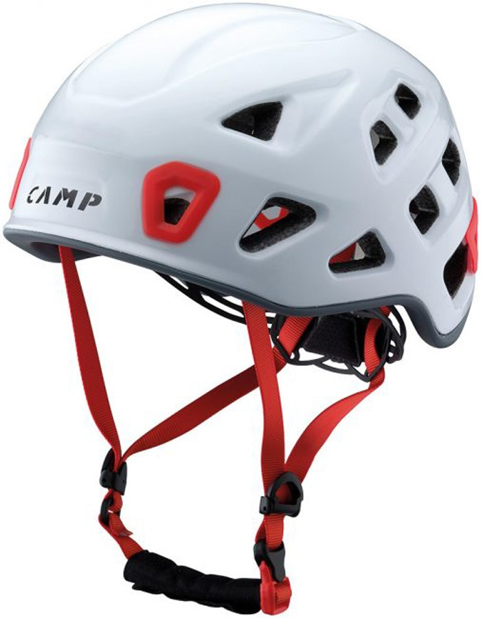 CAMP Storm Rock Climbing Helmet, 48-56cm, White/Red