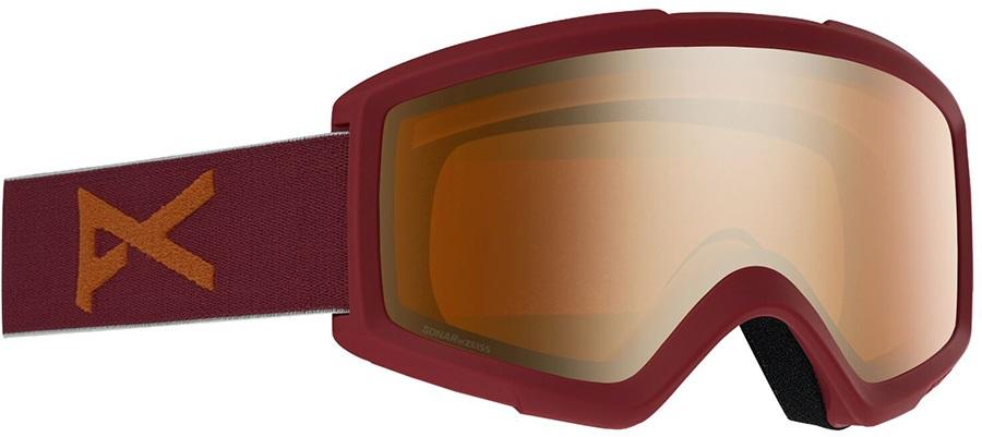 Anon Helix 2.0 Sonar Bronze Ski/Snowboard Goggles, S/M Maroon
