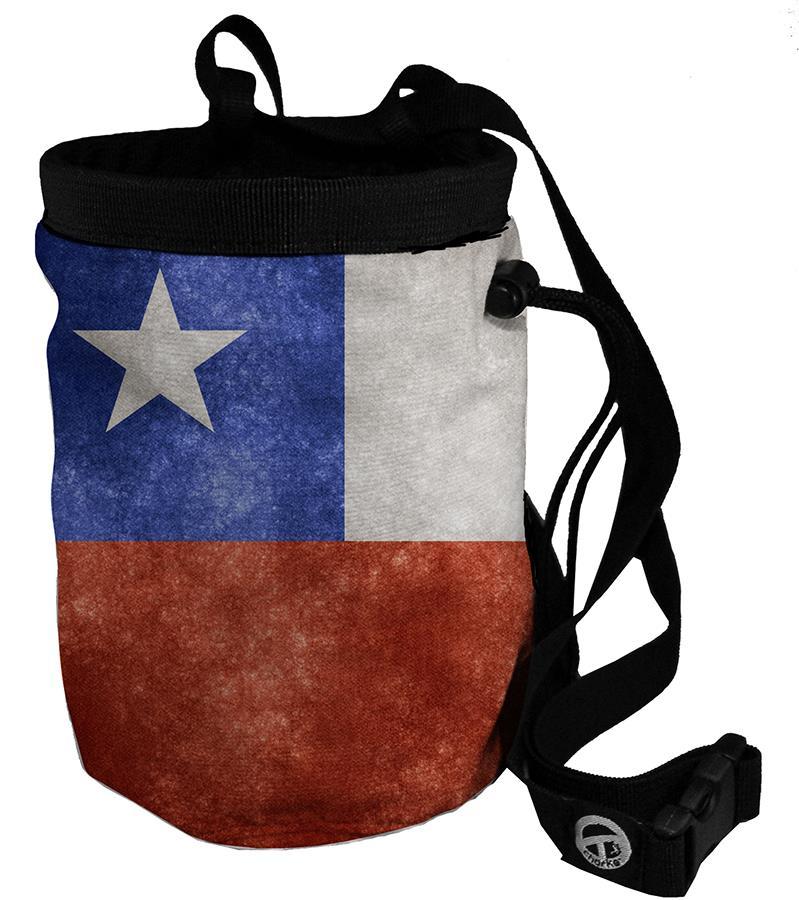 Charko Flag Bags Rock Climbing Chalk Bag, Regular Chile