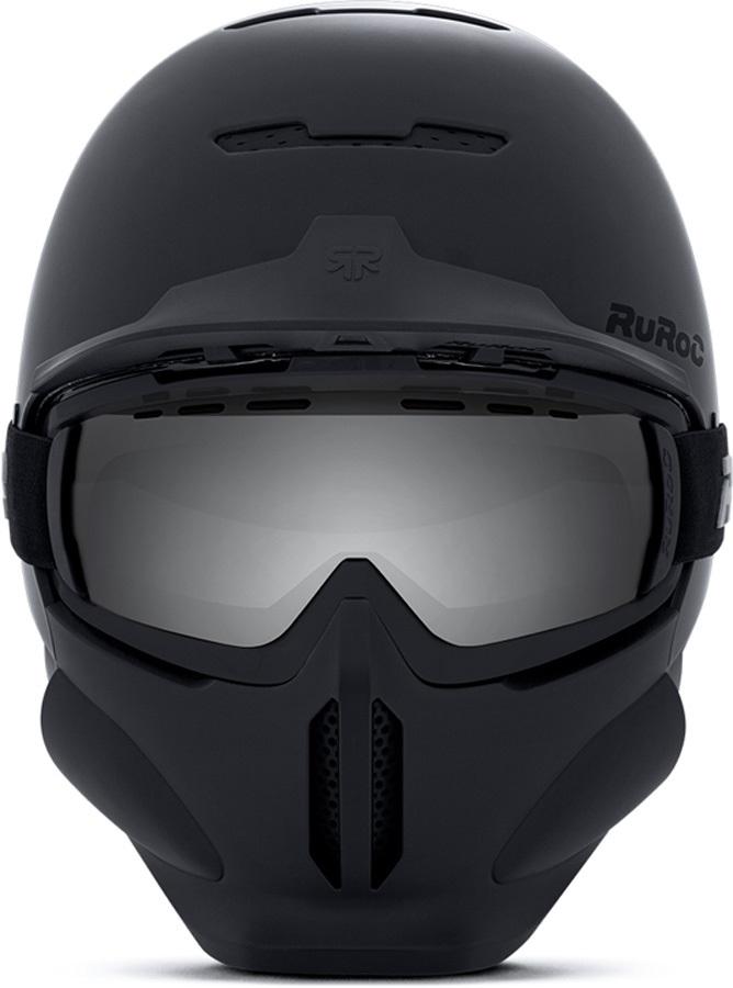 Ruroc RG1-DX Full Face Snowboard/Ski Helmet, S, Core
