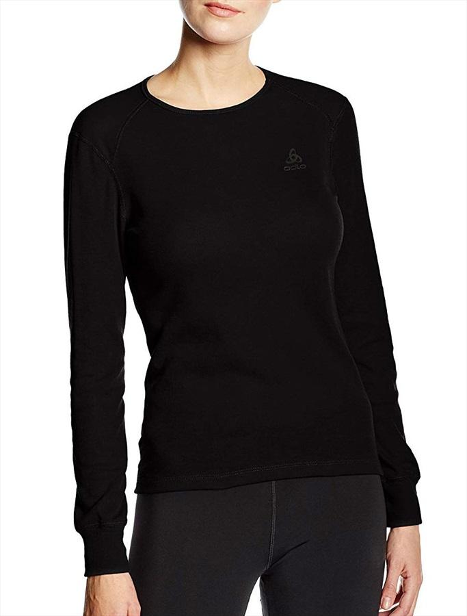 Odlo Body Fit Crew Neck Women's Long Sleeve Baselayer -XS, Black