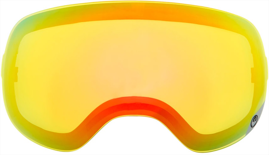 Dragon D3 Snowboard/Ski Goggles Spare Lens, Yellow Red Ionized