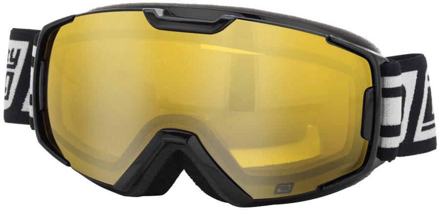 Dirty Dog Velocity Junior Yellow Kids' Ski/Snowboard Goggles, S Black