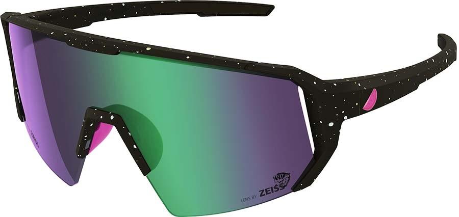 Melon Adult Unisex Alleycat Violet Chrome Performace Sunglasses, M/L Paint Splat/Pink