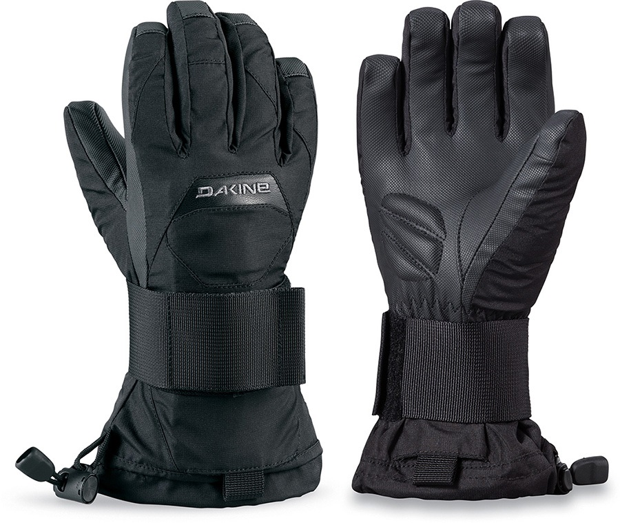 Dakine Wristguard Jr Kid's Snowboard/Ski Gloves, Age 4-6 Black