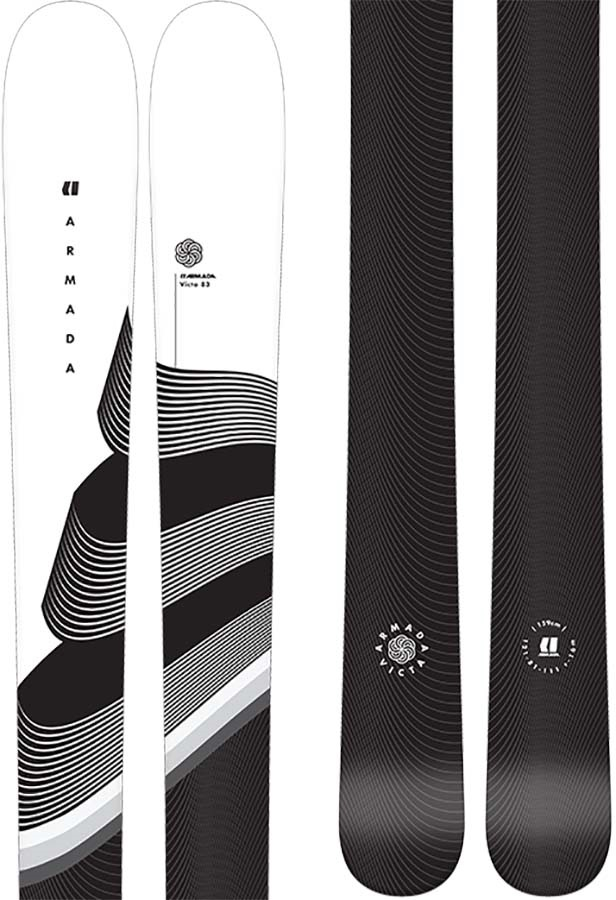 Armada Victa 83 Women's Skis 151cm, White/Black, Ski Only, 2021