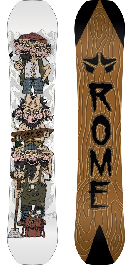 Rome Gang Plank Len RK1 Reverse Camber Snowboard, 155cm 2020