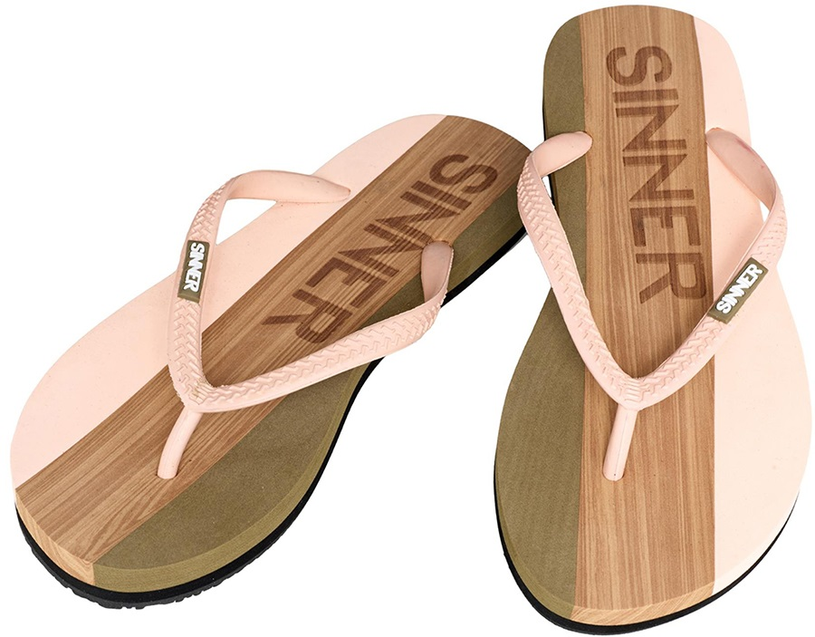 Sinner Capitola Women's Flip Flops, UK 3.5 / EU 36 Light Pink/Brown