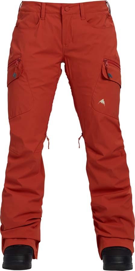 Burton Gore-Tex Gloria Women's Ski/Snowboard Pants, XL Hot Sauce