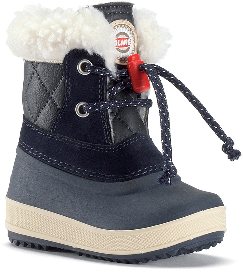Olang Ape Kids Winter Snow Boots UK Child 7.5/8.5 Navy