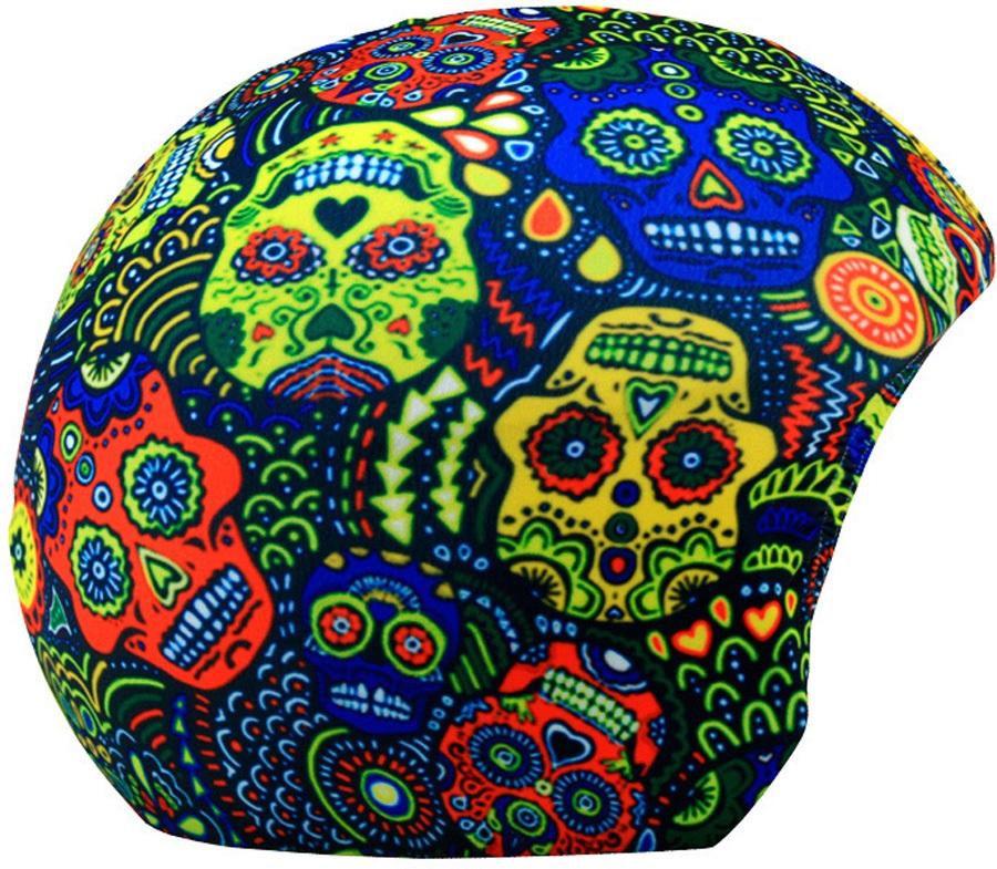 Coolcasc Printed Cool Ski/Snowboard Helmet Cover, Maori Skulls