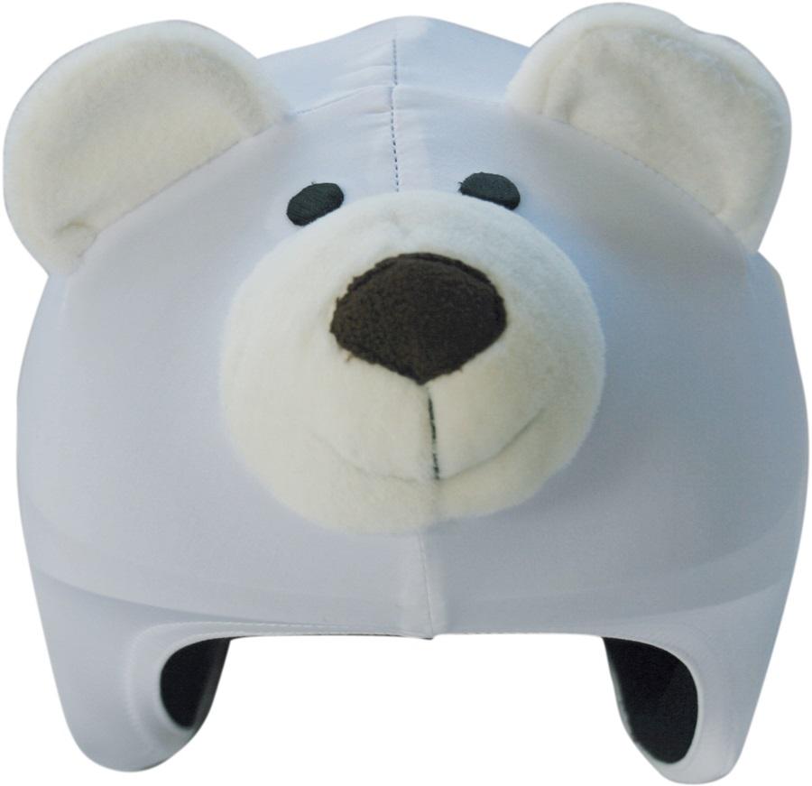 Coolcasc Animals Ski/Snowboard Helmet Cover, One Size, Polar Bear