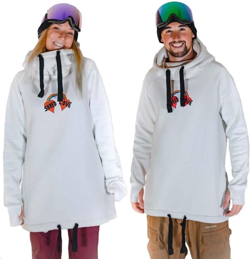 bro! Chill N'shred Unisex Ski/Snowboard Hoodie, S Shred Love