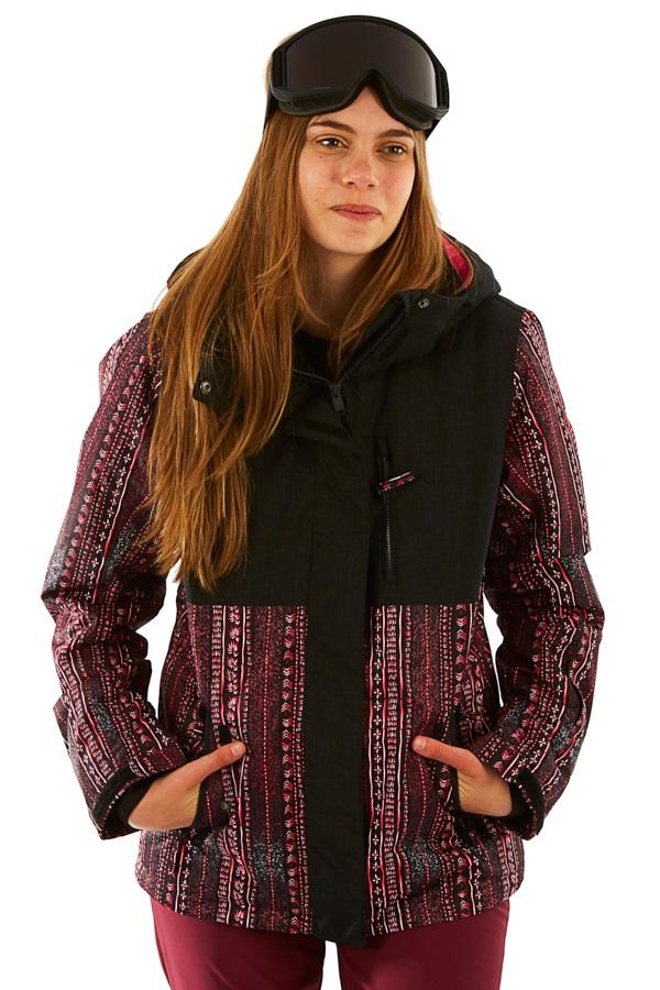 Roxy Jetty Block Women's Snowboard/Ski Jacket, M True Black/Pink