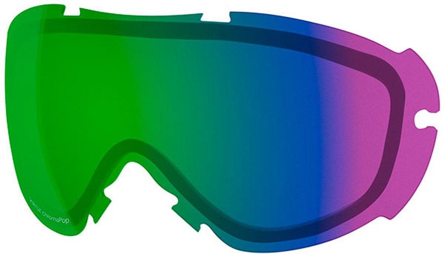 Smith Virtue Snowboard/Ski Goggle Spare Lens, Chromapop Everyday Green