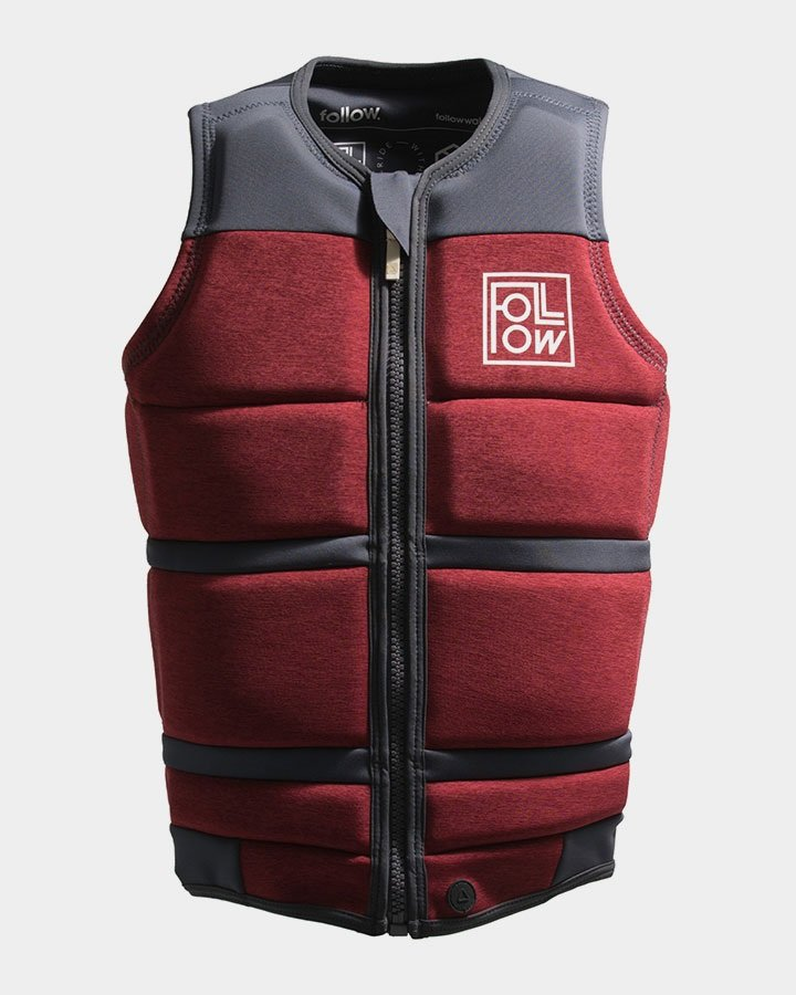Follow Surf Edition Wakeboard Impact Vest Jacket, S Red Wine 2021