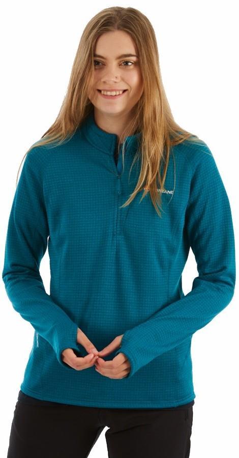 Montane Power Up Half-Zip Women's Pullover Fleece Top, XL Zanskar Blue