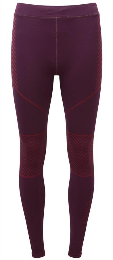 Tribe Sports Engineered Running Tight Women's Leggings, UK 12 Burgundy