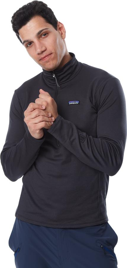 Patagonia R1 Daily Zip Neck Half Zip Fleece, S Ink Black/Black X-Dye