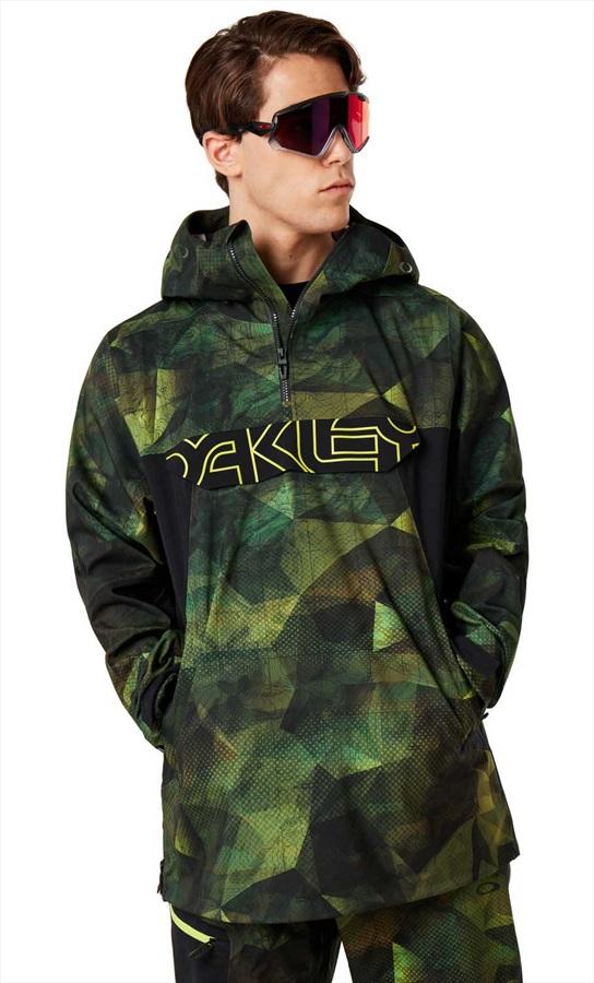 Oakley Black Forest 3L 15K Shell Ski/Snowboard Jacket, XL Geo Camo