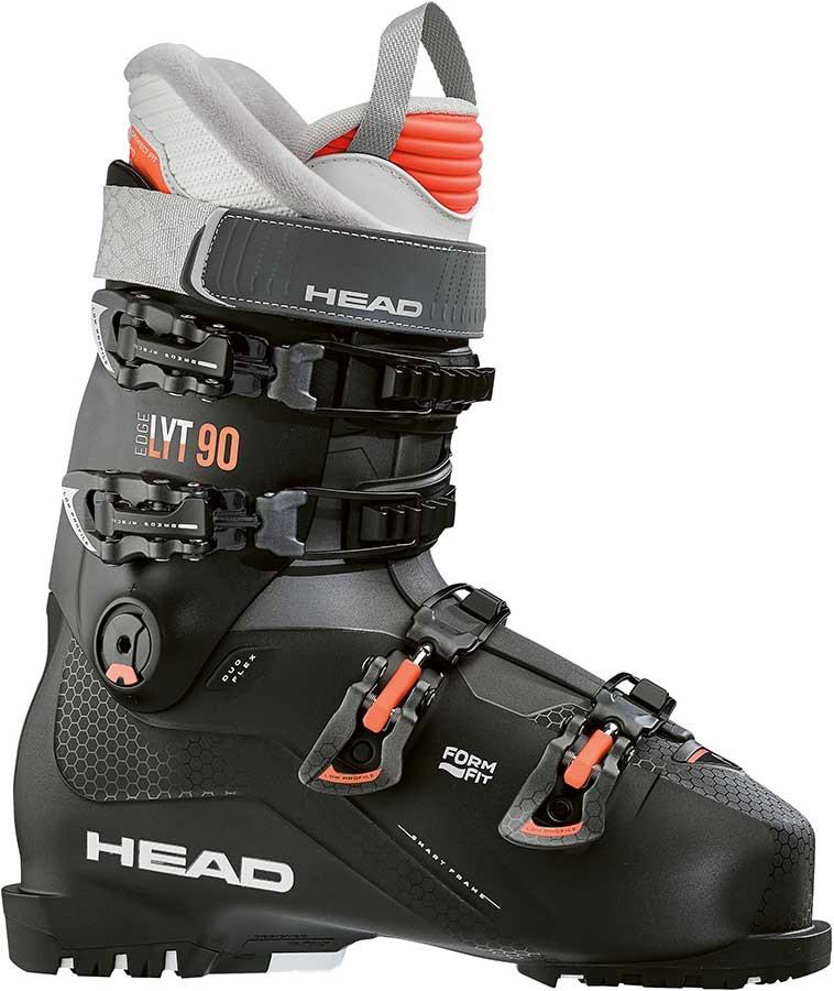 Head Edge LYT 90 Women's Ski Boots, 23/23.5 Black/Orange 2020