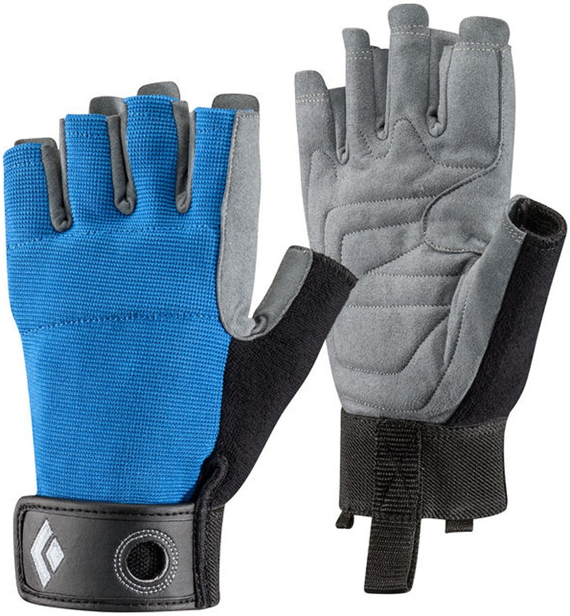 Black Diamond Crag Half-Finger Rock Climbing Gloves, L Cobalt