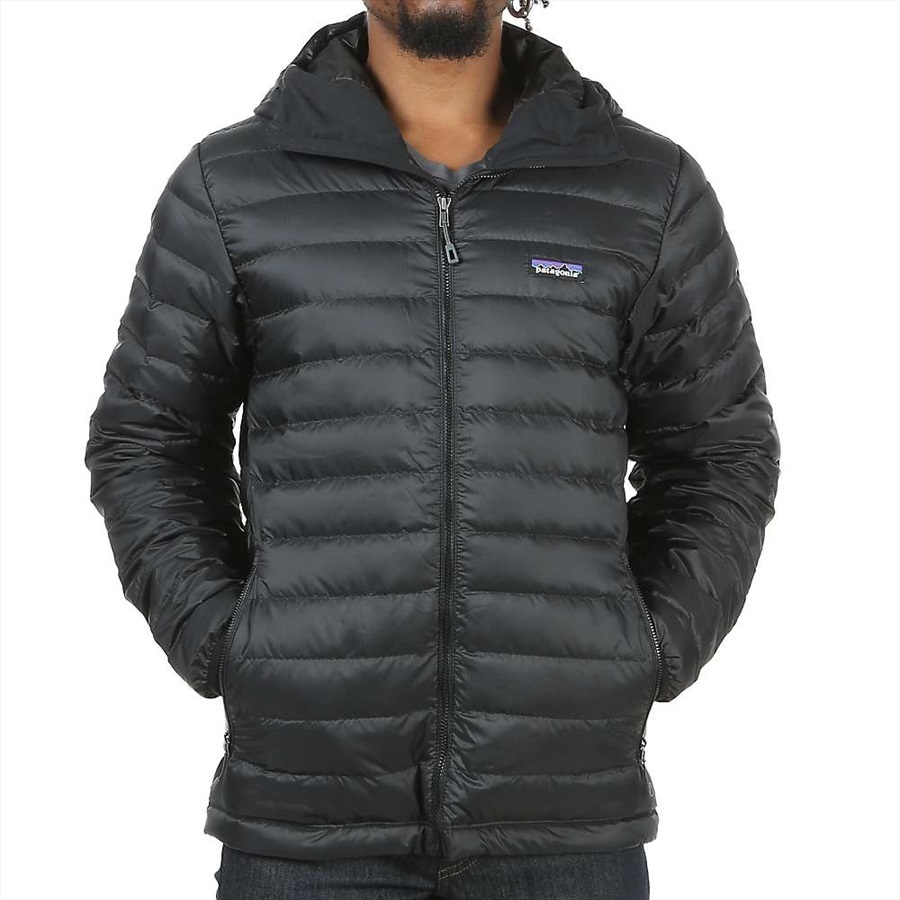 Patagonia Down Sweater Hoody Insulated Hooded Jacket, L Grey