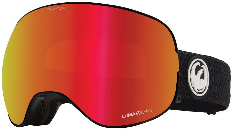 Dragon X2 LumaLens Red Ion Snowboard/Ski Goggles, L Split