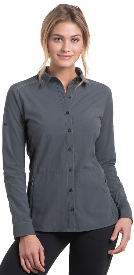 Kuhl Invoke Women's Long Sleeve Shirt, UK 16-18 Carbon