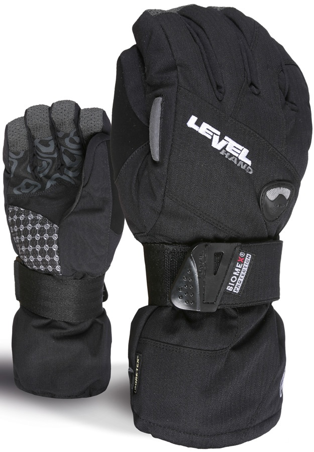 Level Half Pipe XCR Gore-Tex Snowboard/Ski Gloves S Black