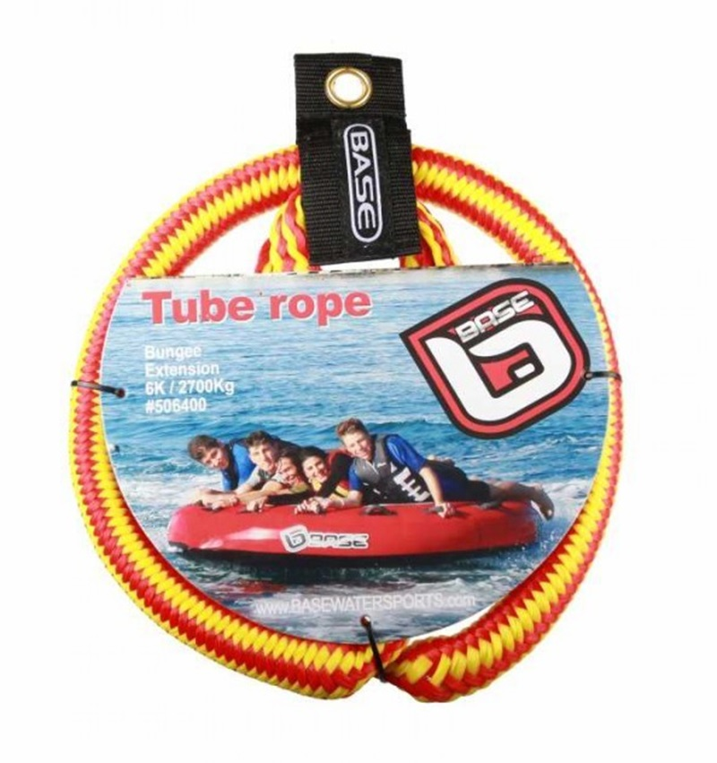 Base Bungee Tube Rope Extension, Up To 6 Riders Red Yellow