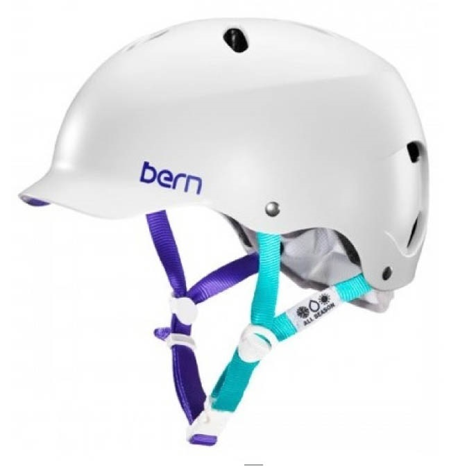 Bern LENOX Ladies H2O Watersports Helmet, L Satin White