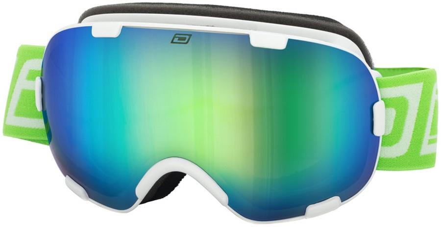 Dirty Dog Afterburner 0.5 Green Women's Ski/Snowboard Goggles, M White