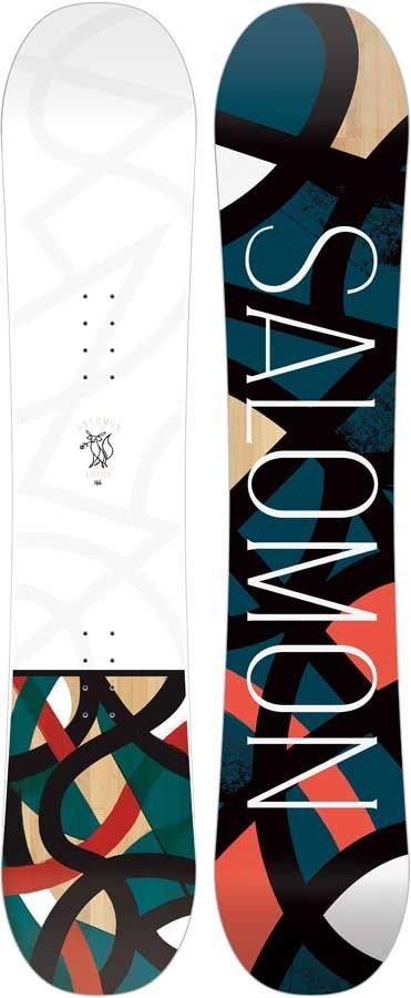 Salomon Lotus Women's Hybrid Camber Snowboard, 142cm 2020