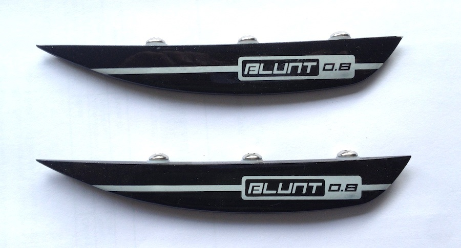 O'Brien Blunt Fin G10 Wakeboard Fin Kit 2 Pack 0.8 Black