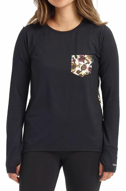 Burton Tech Tee Women's Thermal Long Sleeve Top, M True Black