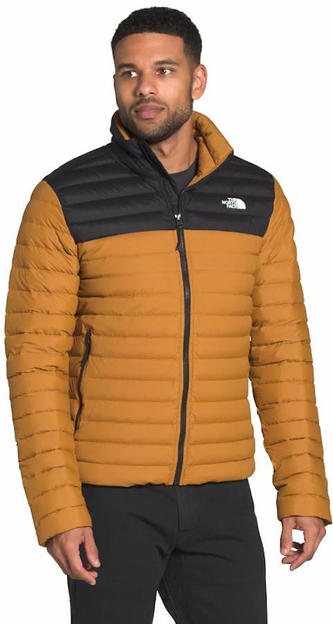 The North Face Adult Unisex Stretch Down Men's Insulated Jacket, Xl Tan/Black