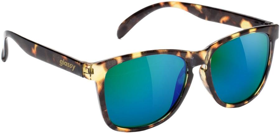 Glassy Sunhaters Deric Sunglasses Tortoise Green Mirror Lens
