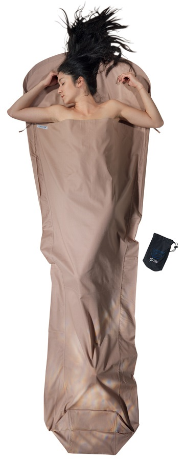 Cocoon MummyLiner Organic Cotton Sleeping Bag Liner, Regular Earth