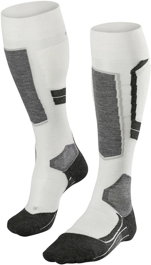 Falke SK4 Merino Wool Women's Ski Socks, UK 2.5-3.5 Offwhite
