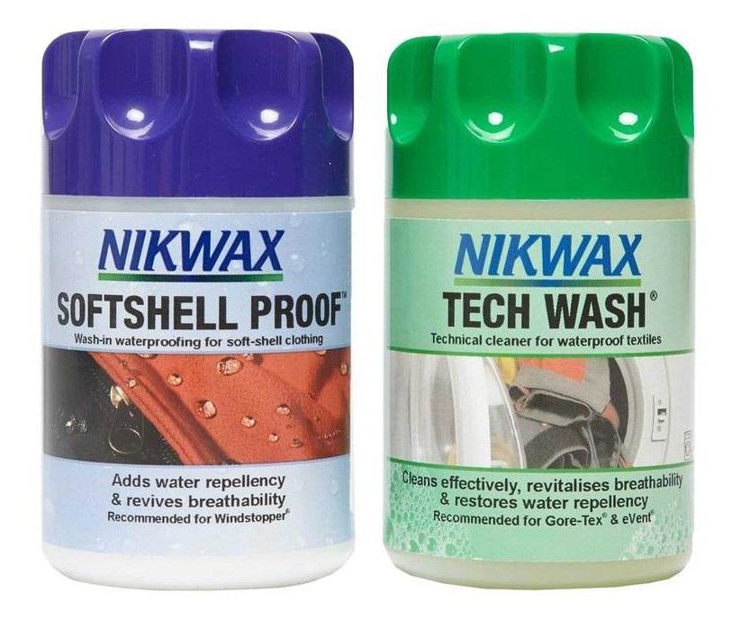 Nikwax Twin Tech Wash/Softshell Proof Clothing Waterproofer, 150ml