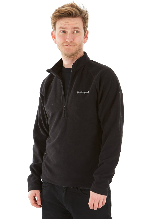 Snugpak Impact Pullover Half Zip Fleece, S Black