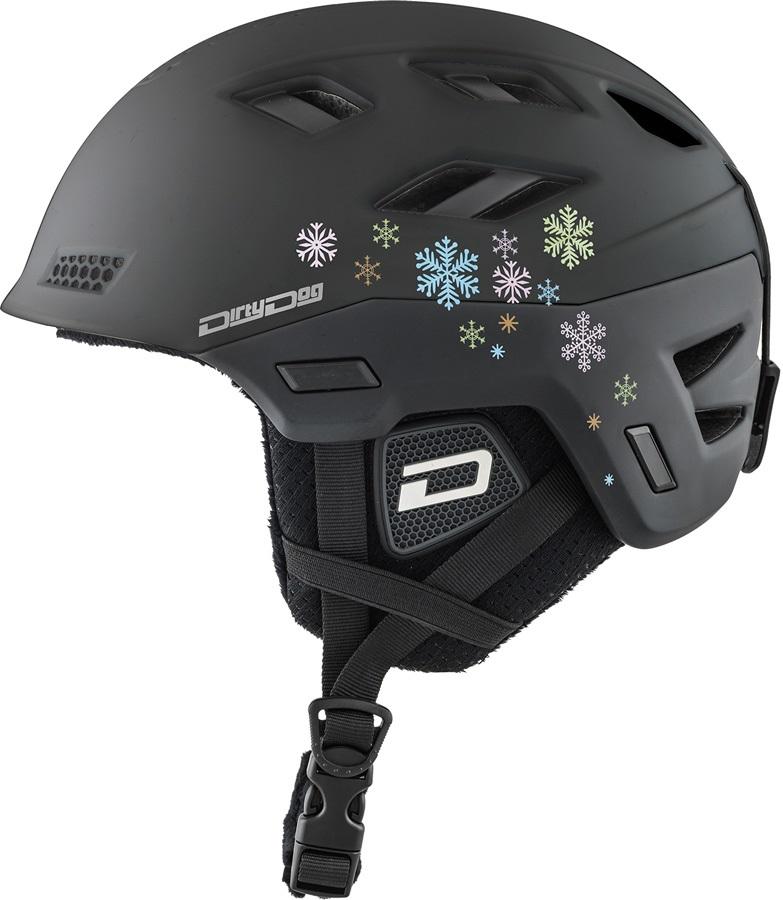 Dirty Dog Zodiak Ski/Snowboard Helmet, L Matte Black
