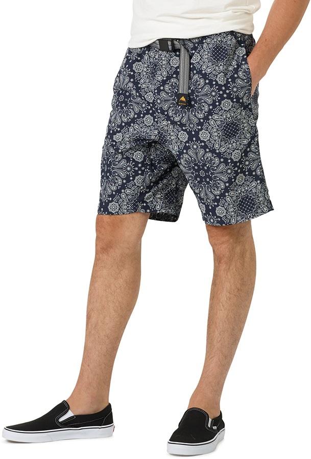 Burton Clingman Lightweight Hiking/Board Shorts, M Mood Indigo Bandana