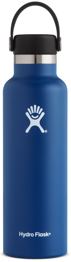 Hydro Flask 21oz Standard Mouth With Flex Cap Water Bottle, Cobalt