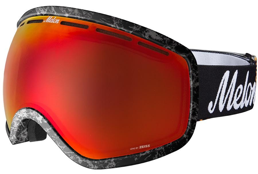 Melon Chief Red Chrome Sonar Snowboard/Ski Goggle, M/L Marble